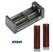XTAR MC2 USB LADEGERÄT FÜR E-ZIGARETTEN SET 2x LG HG2 18650 AKKU 6000 mAh 3,7V