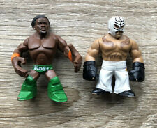 WWE Rey Mysterio & Kofi Kingston Minifigures 2011 V3060 V3061