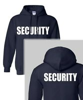SECURITY  HOODED SWEAT Event Bouncer Staff Guard Police Shirt HOODY