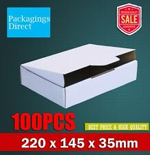 100x Mailing Box 220x145x35mm for DVD CD Video MAILER Bx6 Size Diecut White
