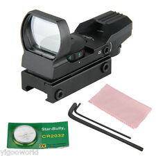 4Type Tactical Reticle Red Green Illuminated Dot Laser Sight Scope w/ 20mm Rails