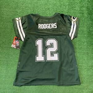 Green Bay Packers Aaron Rodgers #12 NFL Football Super Bowl Jersey Womens XL NWT