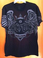 AC-DC med all-over tee Black Ice logo T shirt 2008 Angus Young silhouette Salute