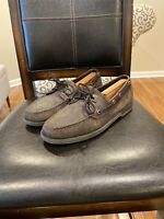 ROCKPORT, MEN'S BROWN LEATHER BOAT SHOE, SIZE 12M