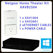 Netgear XAVB2504 Powerline Ethernet Adapter 200Mbps Home Theater Connection Kit