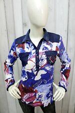 DESIGUAL Taglia S Donna T-shirt Cotone Multicolore Casual Maglietta Manica Lunga