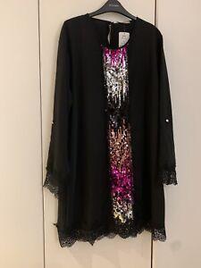 BNWT Sequin Shift Dress Size 16