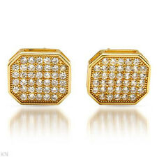 in 18K/925 Gold plated Silver Attractive Stud Earrings W/3.65ctw Cubic zirconia