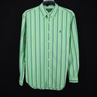 Mens Polo Ralph Lauren Classic Fit Green Oxford Golf Dress Shirt Size Large L