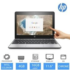 "HP Chromebook 11 G5 11.6"" Light Weight Touchscreen Laptop Intel Celeron 4GB 16GB"