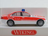 """Wiking 60106 Mercedes-Benz E-Klasse Lim. (2002) """"FEUERWEHR"""" 1:87/H0 NEU/OVP"""