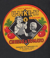 Ancienne  étiquette Fromage  Royaume Uni  11260 Tomate