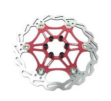 Disque vtt 180mm flottant noir 6 trous U-ROUND - RED 180mm FLOATING ROTOR