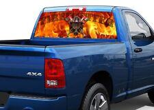 FireFighter Fire Flame Rear Window Decal Sticker Pickup Truck SUV Car