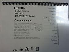 Fujifilm FinePix JZ100 / JZ200 imprimé manuel d'utilisation guide utilisateur 114 pages A5