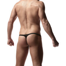 Men's Sexy T Back Thongs Underwear Soft Mini G-string Underpants Y-front Briefs