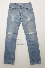 Levi's 511 Slim jeans con rotture usato (Cod.F502) Tg.46 W32 L34 vintage custom