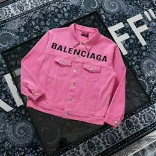 Top2Balenciaga LOOSE Casual Men Women Denim Jean Jacket Coat Long Sleeve Outwear
