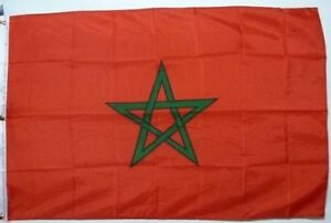 "Nautical Signal Flag - Country Flag Morocco - Clean Polyester * RARE * 40"" x 60"""