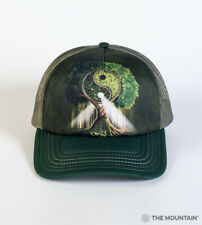 The Mountain Yin Yang Tree Adult Graphic Trucker Hat, Green, Adjustable