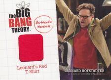 Big Bang Theory Season 1 & 2 Leonard's Red T-Shirt M10 Wardrobe Card