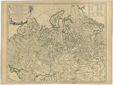 1680s Vintage Map of the Russian Empire 16x20