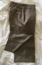 INCOTEX Light Brown Flat Front Zipper Fly SUPER 130's Wool Slacks Pants - Sz 36
