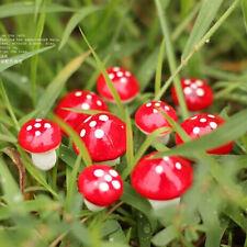 Wholesale 20Pcs/set Cute Red Mushroom Garden Ornament Fairy Decor Magic Craft