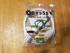 """Odyssey Linear Slic-Kable Rear BMX Bike Brake Cable Wire and Housing White 60"""""""