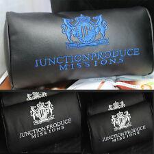 2PCS CAR BLUE JP JUNCTION PRODUCE DAD VIP STYLE LUXURY PU NECK PILLOW HEADREST
