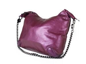 GUCCI Galaxy Leather Metallic Purple Chain Shoulder Bag GS2298