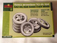 MSD 35006 GAZ-AA/AAA SOVIET TRUCK WHEELS SCALE MODEL KIT 1/35 NEW WWII