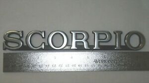Original 1988-1989 Merkur Scorpio Trunk Lid Emblem-Badge