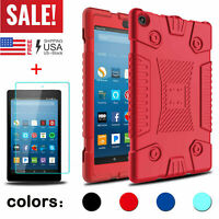 For Amazon Kindle Fire 7 /HD 8 2017 Soft Tablet Case Cover With Screen Protector