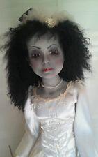 Memorial Day Sale Vriesinga, Creepy OOAK, Horror Porcelain Bride Doll