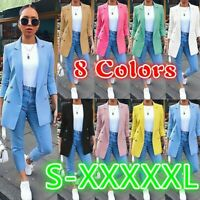 Women's Blazer Suit Slim Long Sleeve Coats Ladyies Jackets Waistcoats Cardigan