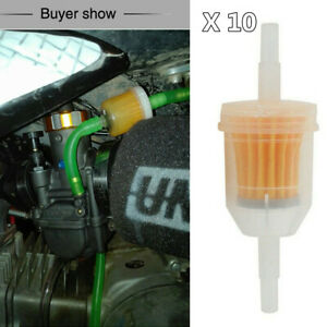 """6-8MM 1/4"""" Fuel Filters Small Engine Inline Gas Fuel Line Motorcycle Accessories"""