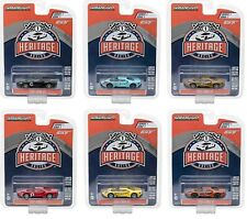 1:64 GreenLight *FORD GT RACING HERITAGE* 2017 FORD GT *SET OF 6 TRIBUTE CARS*