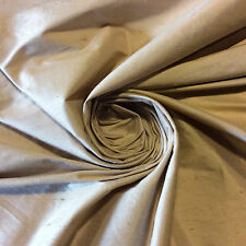 SH026 Light Taupe Exquisite Hand Woven Dupioni 100% Silk Fabric Drapery Fabric