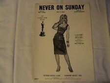 Never on Sunday, Sheet Music