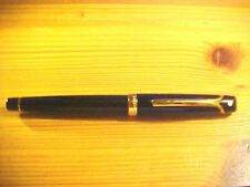 GORGEOUS Sheaffer Valor Black & Gold Rollerball Designer Pen Italy G356