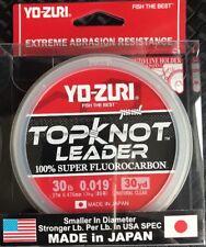 YO-ZURI TOPKNOT LEADER 30lb 30 Yds. 100% Super Fluorocarbon