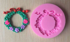 Wreath of flowers with bow Mini Silicone Mold for Fondant, GP, Chocolate, Crafts