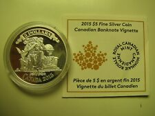 2015 Proof $5 Bank Notes #4-Barclay's Bank Vignette 1929 COIN&COA ONLY Canada .9