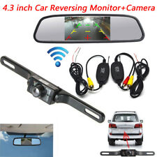 "Wireless Rear View Back up Camera Night Vision System+4.3"" Monitor For Parking"