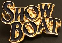 Vintage Show Boat Enamel And Gold Tone  Lapel Pin