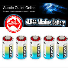 5x 4LR44 Alkaline Battery 6V PX28A, A544, 28PXA, 476A, A4034PX, L544, 28A, L1325