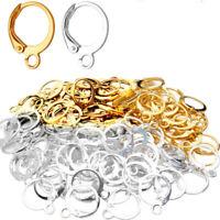 100PCS Earring Hooks 925 Sterling Silver for Jewelry Making Earrings Wires