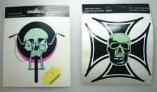 ALT 2 x Totenkopf Aufkleber 1970er Jahre UHW Sticker 11cm x 11cm  (11)