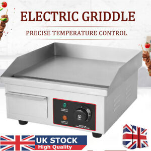 Electric Griddle Countertop Hot Plate Commercial BBQ Grill Egg Fryer Kitchen UK